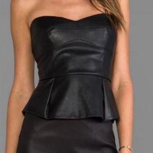 BCBG Faux Leather top